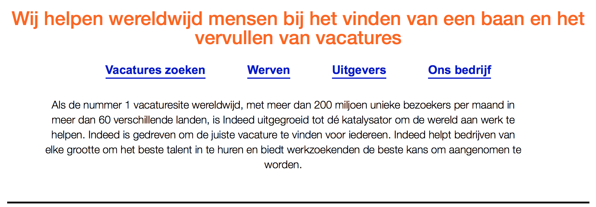 Is Indeed echt de nummer 1 vacaturesite?